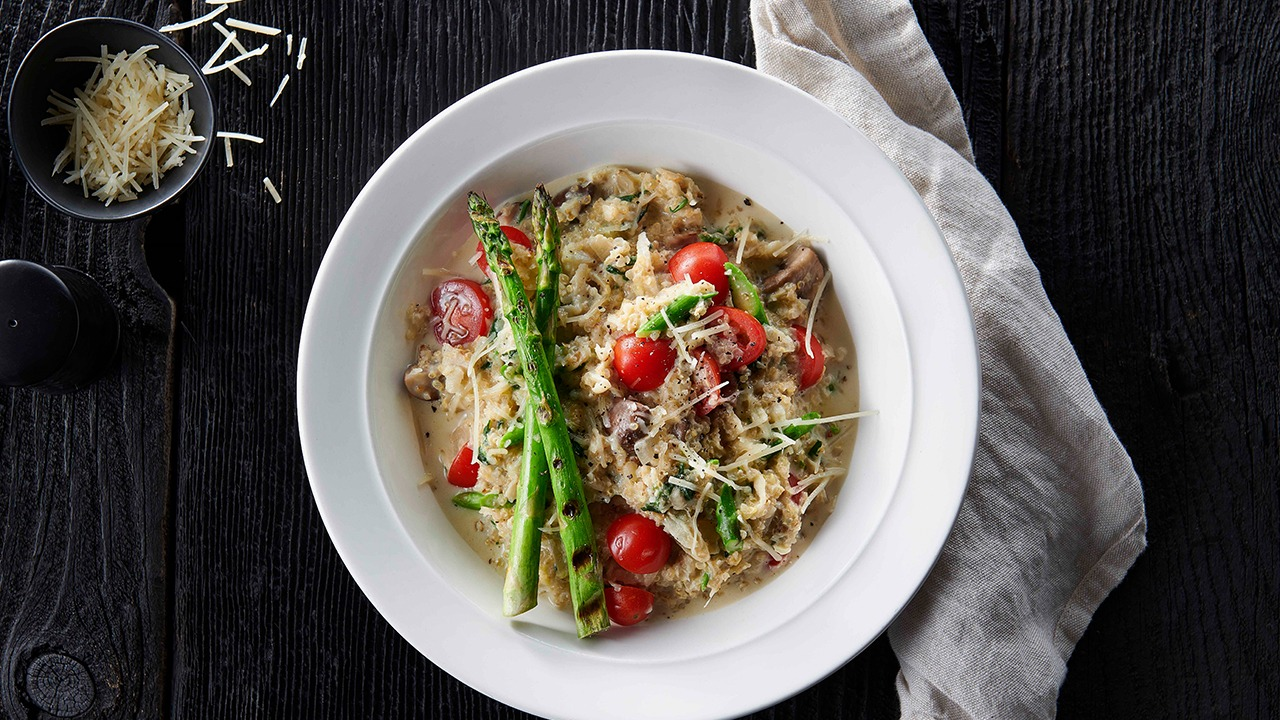 Domestic Quinoa Cauliflower & Asparagus Risotto